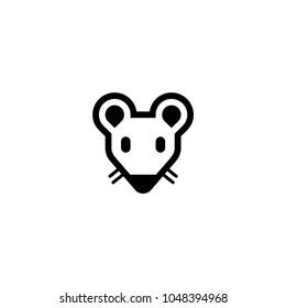 Rat head icon. Vector rat icon
