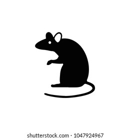 Rat icon. Vector rat silhouette