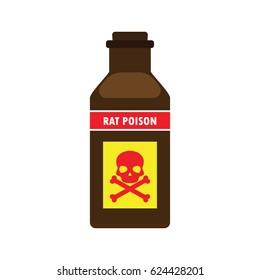 rat killer poison liquid in the bottle concept. vector illustration