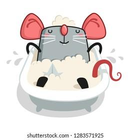 rat leschit in the bathroom