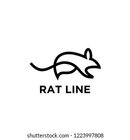 rat line unique animal logo icon designs icon vector