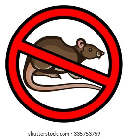 rat pest vector drawing home parasite - set of household pests in pure style