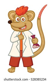 Rat Professor Cartoon