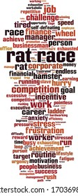 Rat race word cloud concept. Collage made of words about rat race. Vector illustration
