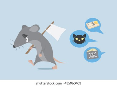 Rat raise a white flag for give up with way get rid of rat by home ownership.