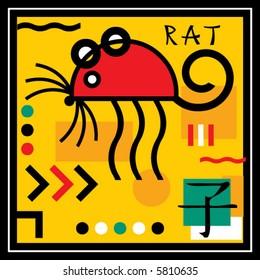 rat, sign of the oriental calendar
