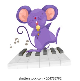 rat sing vector Illustration on a white background