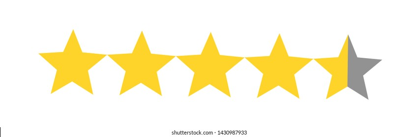 Image result for four and a half stars""