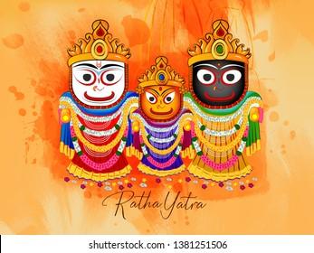 Ratha yatra ( The return journey of Puri Jagannath Ratha Jatra is known as Bahuda Jatra ) - Vector