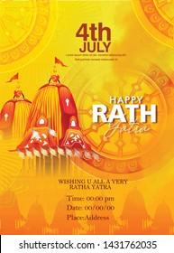 Rathyatra, Lord Jagannath Puri Odisha god Rathyatra Festiva, Jagannath, Balabhadra, Subhadra and Sudarshana on ratha
