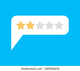 Rating 2. Feedback Two Stars Bubble. Recommendations sign. Recall symbol