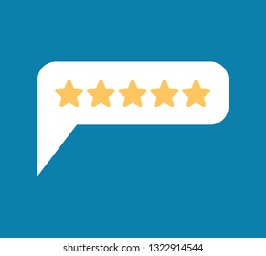 Rating 5. Feedback Five Stars Bubble. Recommendations sign. Recall symbol