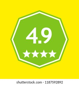 Rating icon. Google Play. App icon. Android. Vector. EPS 10.