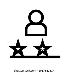 rating icon or logo isolated sign symbol vector illustration - high quality black style vector icons