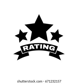 The rating icon. Ranking and classification, star symbol. Flat design. Stock - Vector illustration