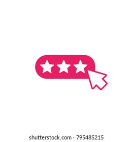 rating, ranking icon with cursor