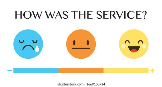 Rating scale in the form of humor emoticons. Vector illustration EPS 10