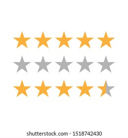 rating star for review app - vector illustration