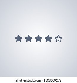 Rating, star, vector best flat icon on white background , EPS 10