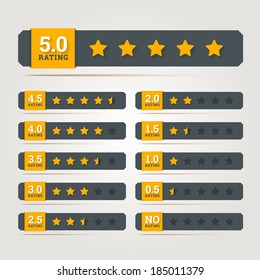 Rating stars badges. Vector illustration.