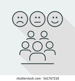 Rating team - Thin icon