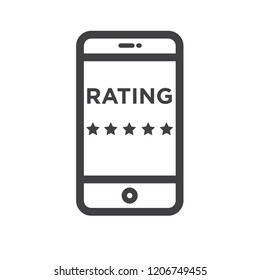 Rating vector icon