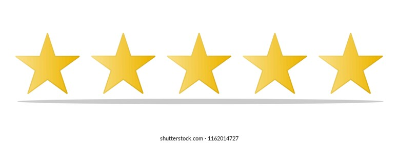 Rating_Review icon - Flat design, glyph style icon - Yellow