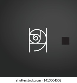 Ratio vector icon. Ratio concept stroke symbol design. Thin graphic elements vector illustration, outline pattern for your web site design, logo, UI. EPS 10.