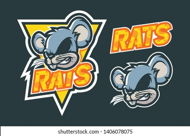 Rats Cheese Mascot Logo Design