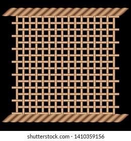 Rattan Weave, Wooden Wicker Pattern, Basket Weave Pattern, Wooden Striped Texture [Vector]