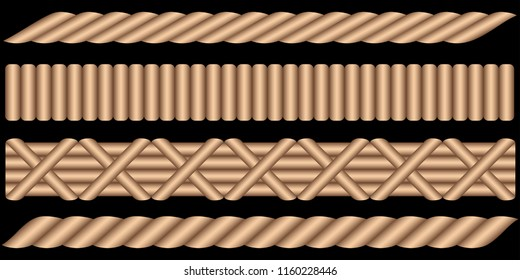 Rattan Wicker Basket Edge Pattern [Vector]