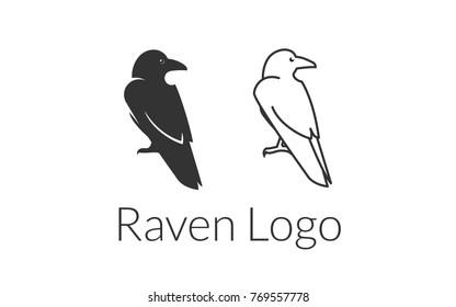 Raven Crow Logo Template