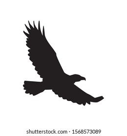 Raven in flight silhouettes vector on a white background