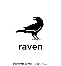 raven logo icon designs vector