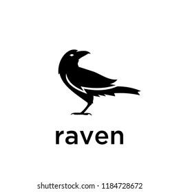 raven logo icon designs vector