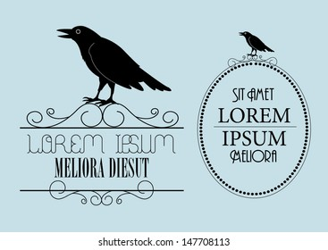 raven signage template vector/illustration