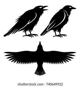 Raven Silhouette Images Stock Photos Vectors Shutterstock If you use the image, credit silhouettegarden.com as the source. https www shutterstock com image vector raven signs 740649922