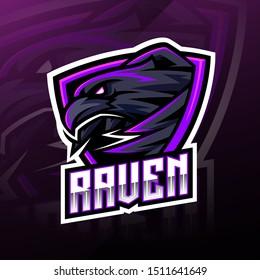 Raven sport mascot logo design