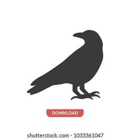 Raven vector icon