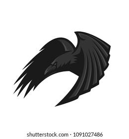 raven/crow esport gaming mascot logo template