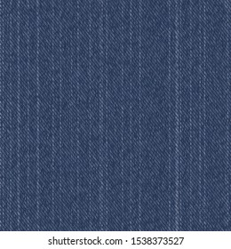Raw Denim Blue Chambray Texture Background. Classic Work Wear Seamless Pattern. Close Up Textile Weave for Indigo Jeans Fabric in Ticking, Wallpaper, Men Fashion Apparel. Vector EPS10 Repeat Tile