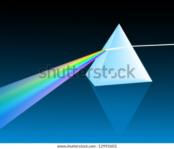 ray of light refracting through a pyramid