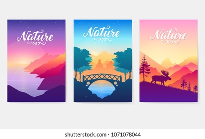Rays of the morning sun over the coastal cliffs. Evening in a cozy city park landscape. Silhouettes of nature in morning colors. Animal in their natural habitat