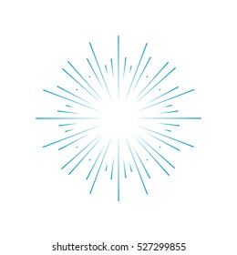 Rays radiating from a center. Linear drawing of rays of the sun. Design elements for your projects. Sunburst frame vector illustration. Retro, vintage, hipster style.