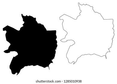 Razavi Khorasan Province (Provinces of Iran, Islamic Republic of Iran, Persia) map vector illustration, scribble sketch Razavi Khorasan map