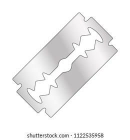 razor blade design isolated on white background