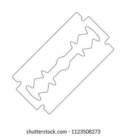 razor blade outline design isolated on white background
