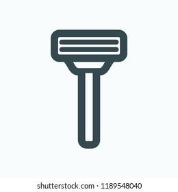 Razor icon. Shaving vector icon