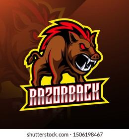 Razorback sport mascot logo design