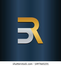 RB BR Double Initial Alphbet letters Logo